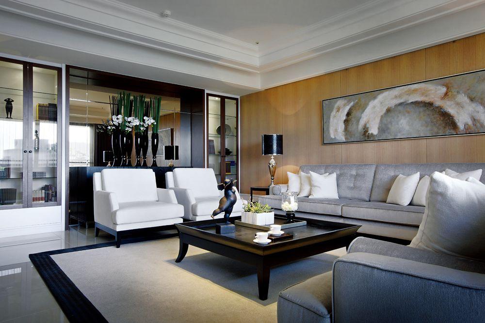 時尚簡歐風混搭 客廳背景墻設計