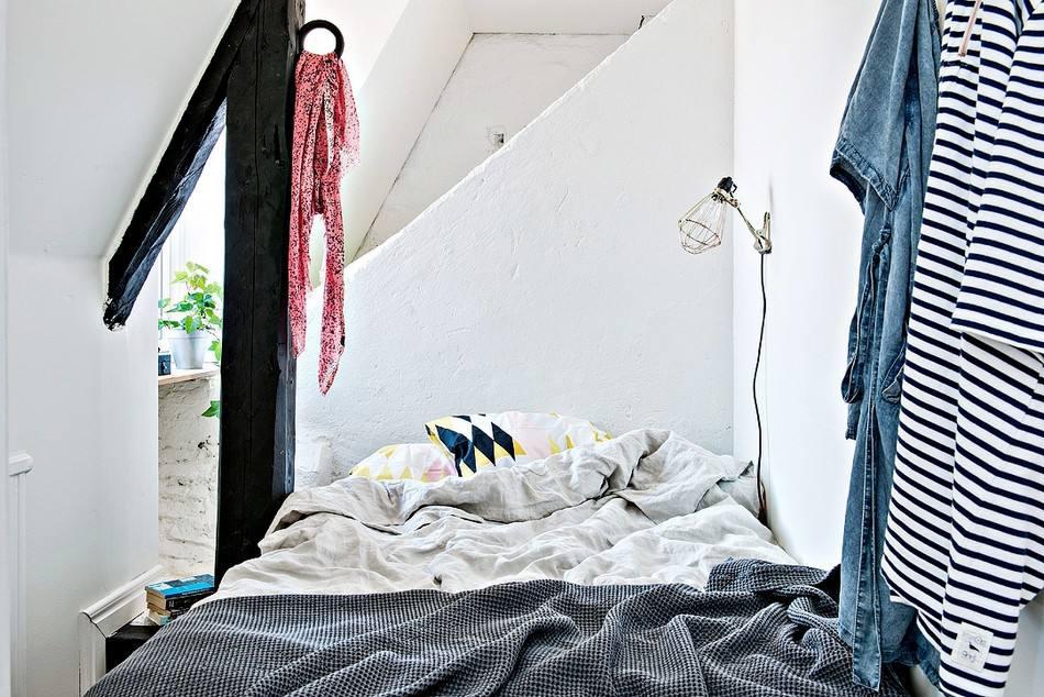 简约北欧风阁楼卧室效果图