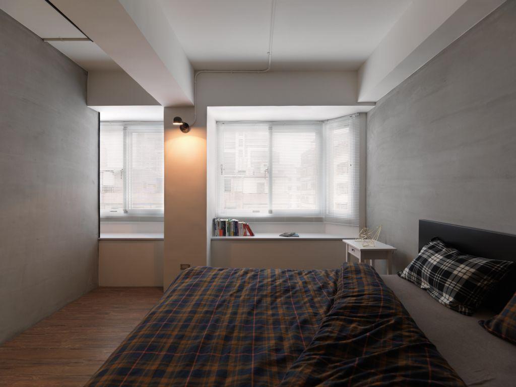 装修百科 装修效果图 装修美图 现代轻工业风卧室飘窗设计 现代轻工业