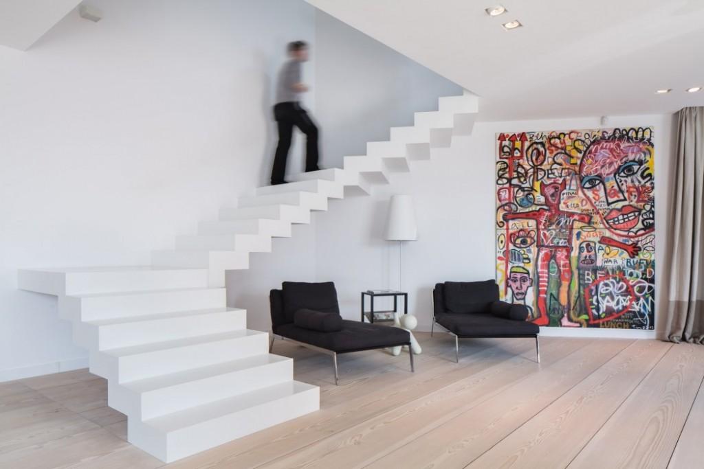 簡約混搭家居樓梯效果圖