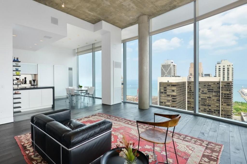 现代时尚高端公寓落地窗设计_装修百科