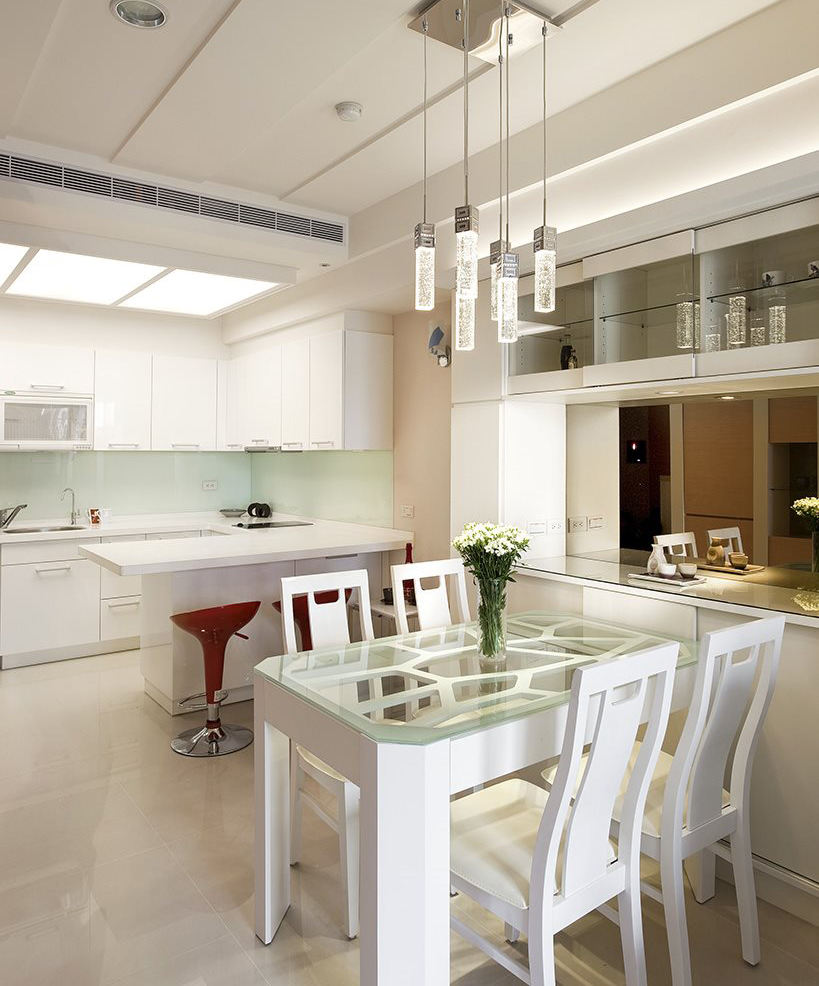 清新宜家開放式廚房餐廳設計