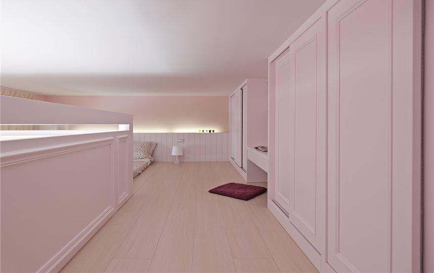 白色簡約家裝室內樣板間欣賞