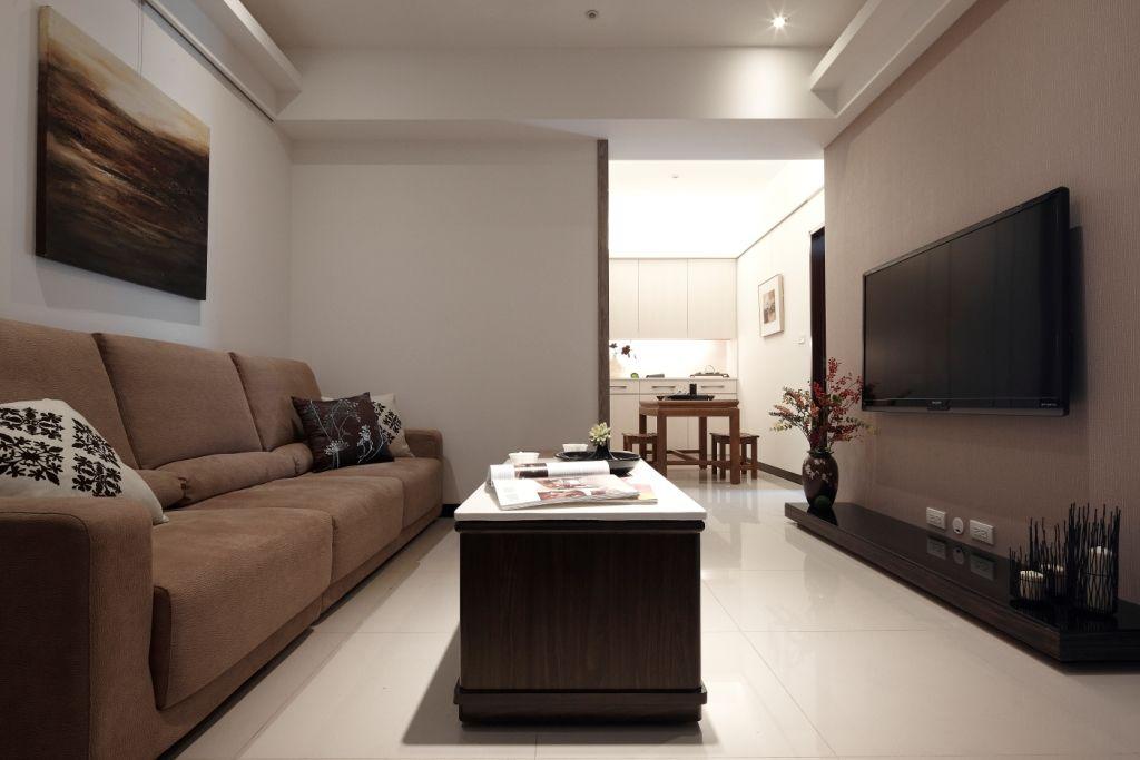 簡約現代日式兩居室效果圖