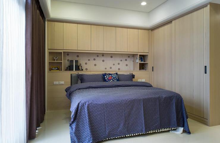 时尚现代装修卧室整体柜设计