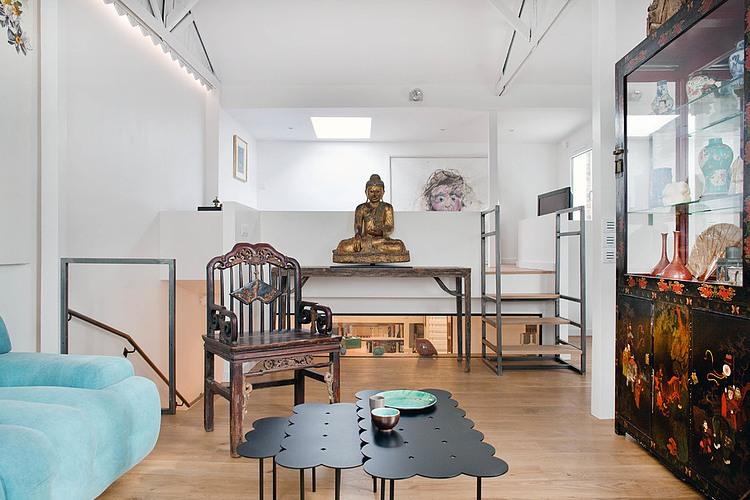 個性中西混搭 小復式公寓設計