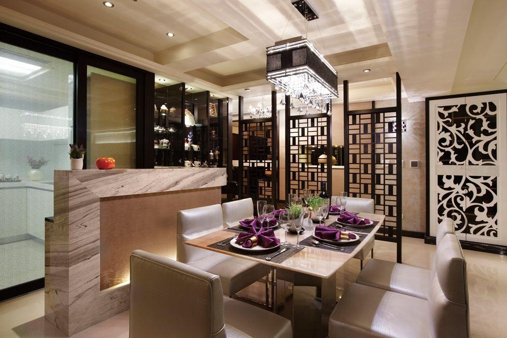 現代中式風餐廳吊燈欣賞