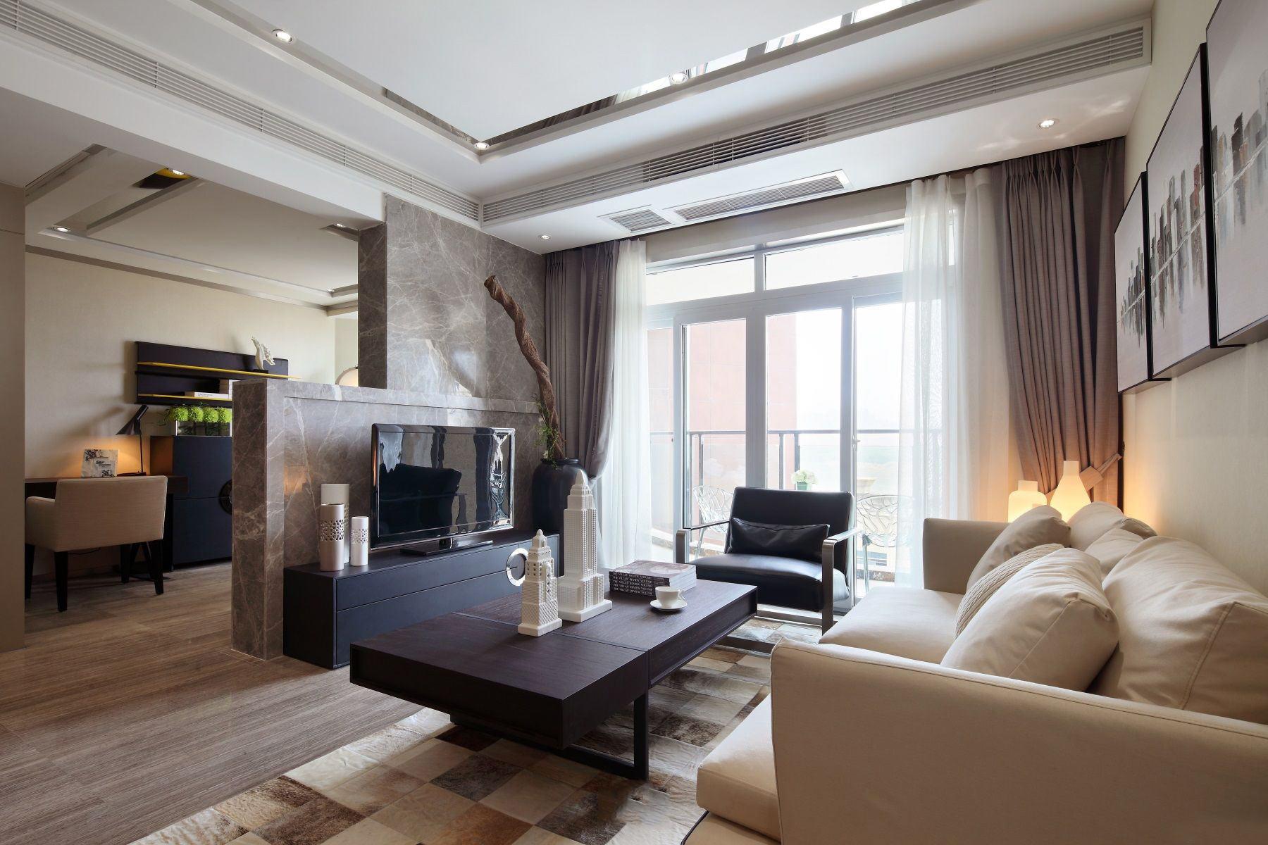 时尚现代设计 三室两厅装修图片
