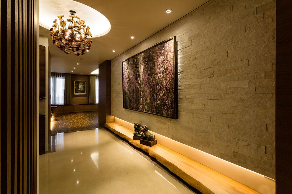 奢华金棕色现代中式 别墅混搭案例欣赏