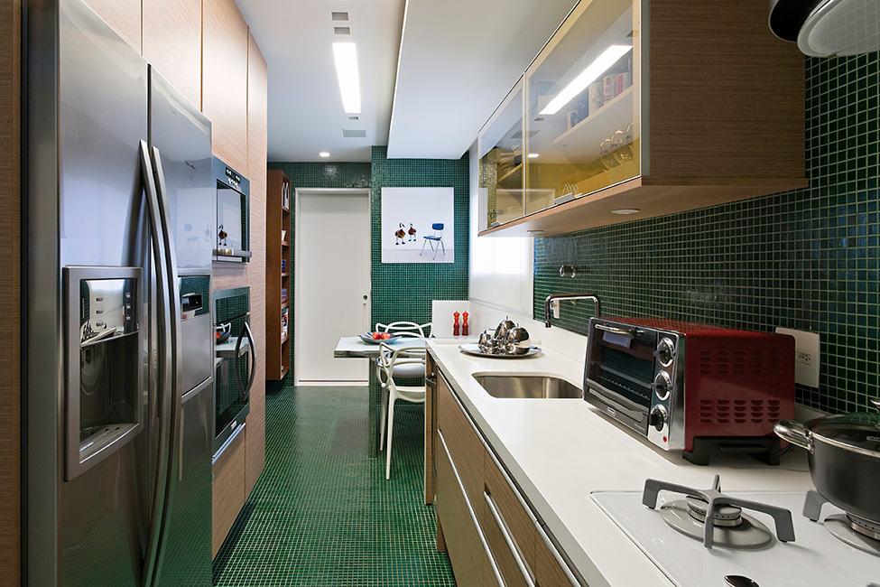 復古簡歐風廚房櫥柜設計