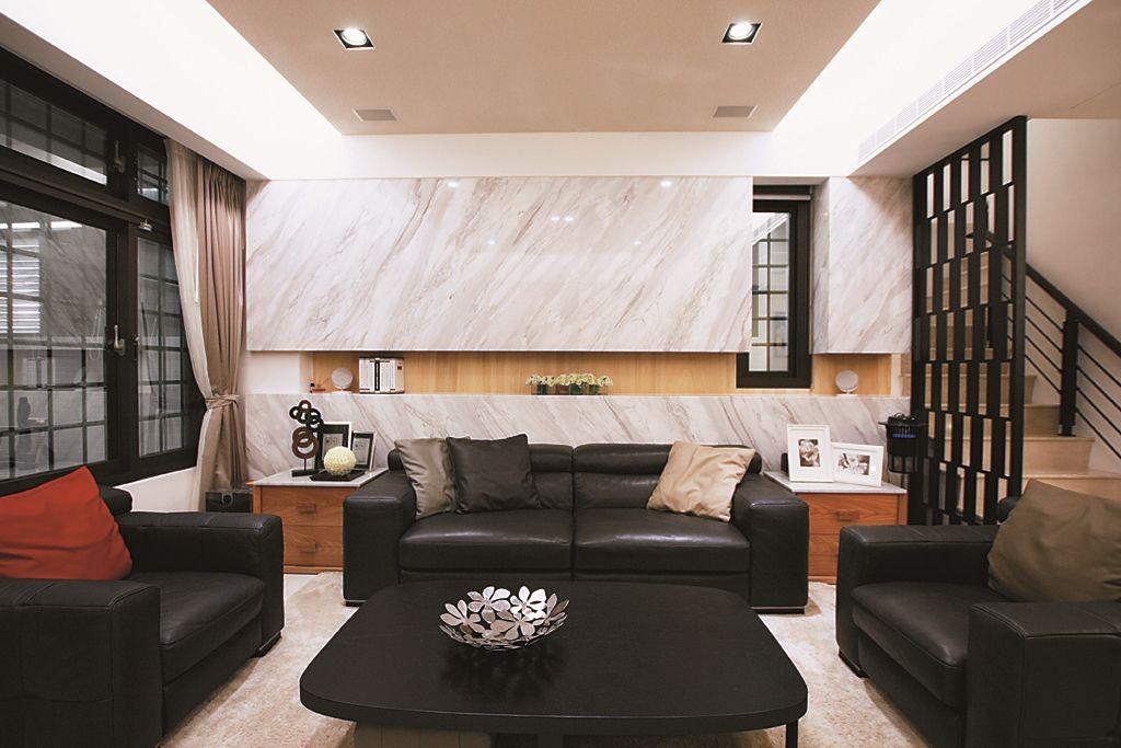 后现代时尚设计客厅沙发背景墙装修效果图