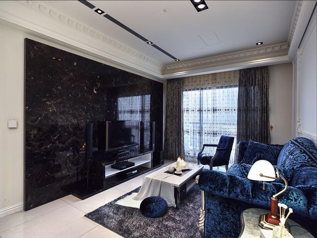 贵气美式风格四室两厅设计装潢图