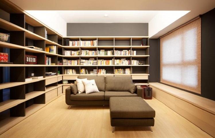 淡雅簡潔日式風格一室兩廳裝修案例圖