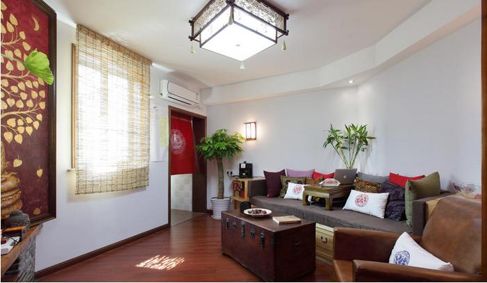 禅意自然风情东南亚风格二居室内装修图片