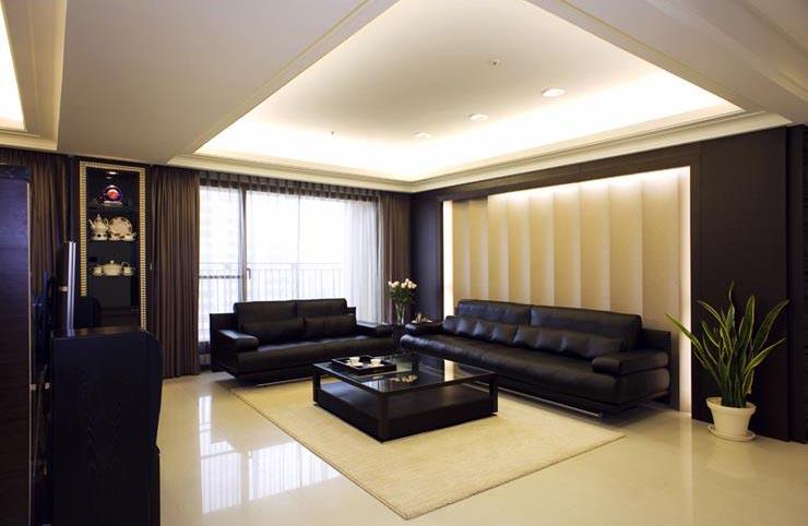 時尚現代設計家裝客廳精裝樣板間欣賞圖