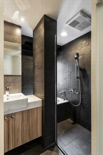 装修百科 装修效果图 装修美图 小户型素色现代简约卫生间半隔断墙