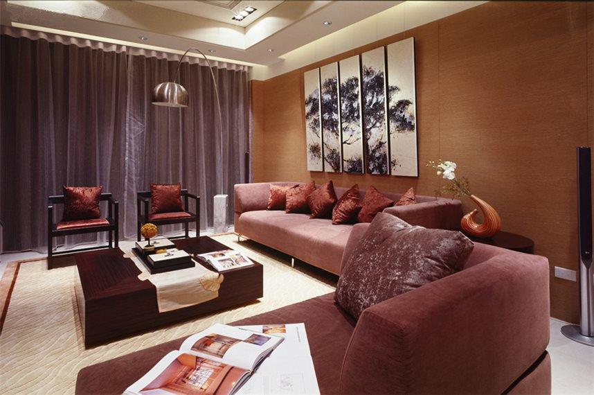 现代中式三室两厅一卫装修图