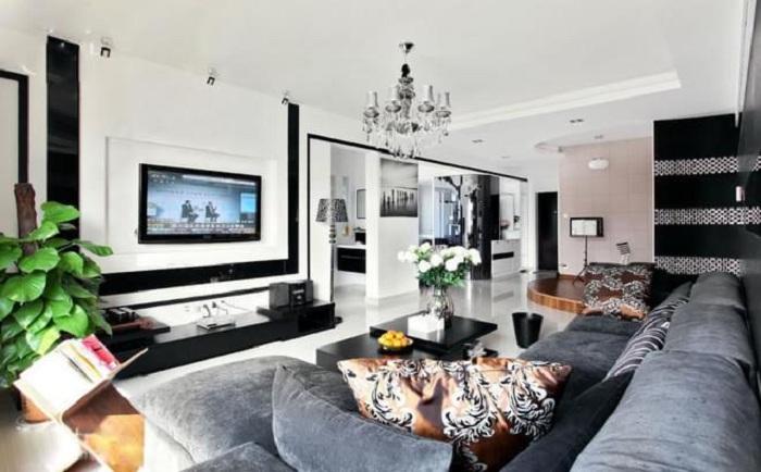 现代装修设计三居案例