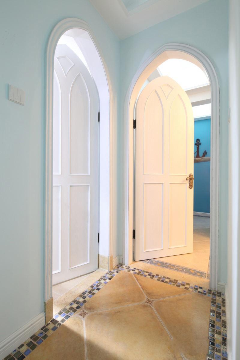 清爽地中海家居室内拱形门装饰效果图_装修百科
