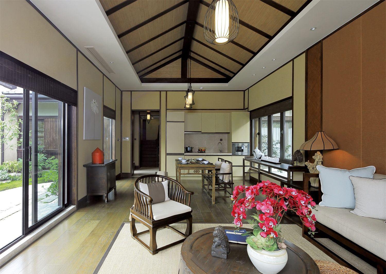 和风原木日式风格别墅室内设计装修案例图