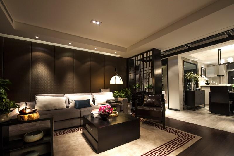 140平沉稳典雅新中式公寓混搭设计