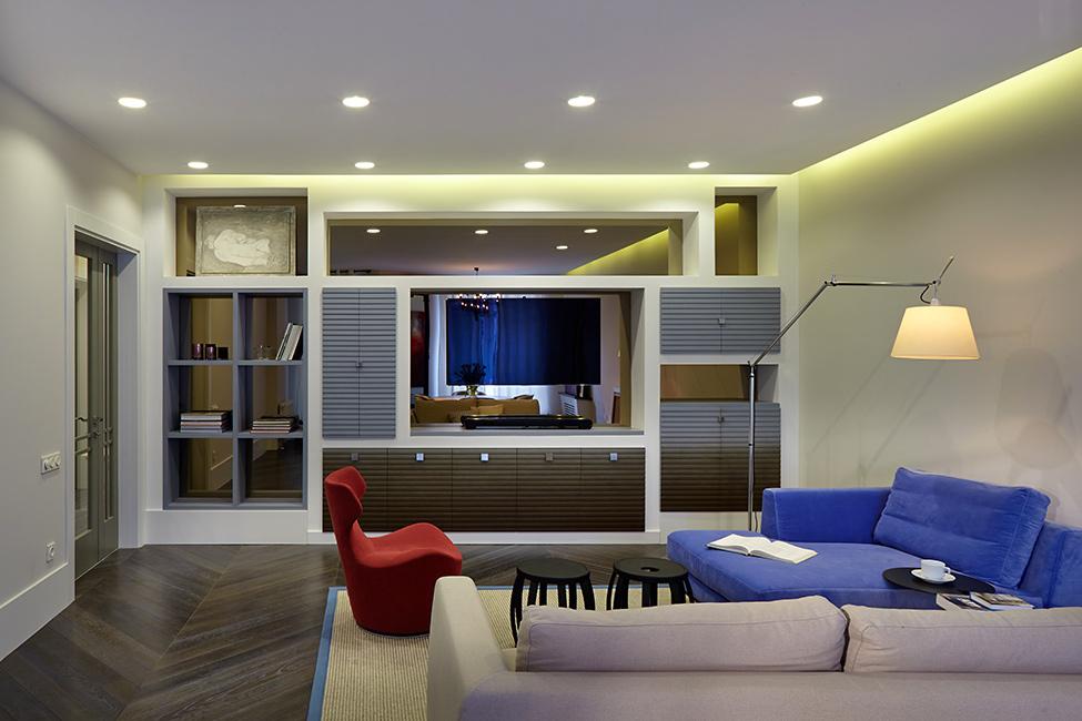 創意現代設計 客廳收納柜背景墻效果圖