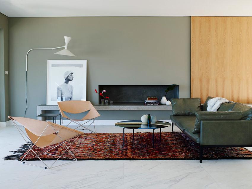时尚个性设计现代家居客厅装修样板间_装修百科