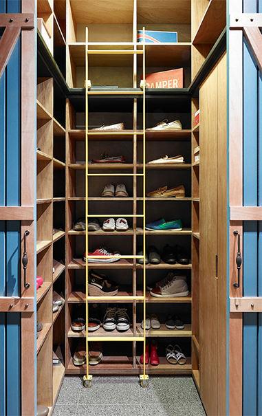 时尚现代家居实木鞋柜设计_装修百科