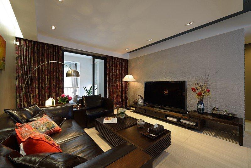 成熟现代家装风格二居设计装修展示图