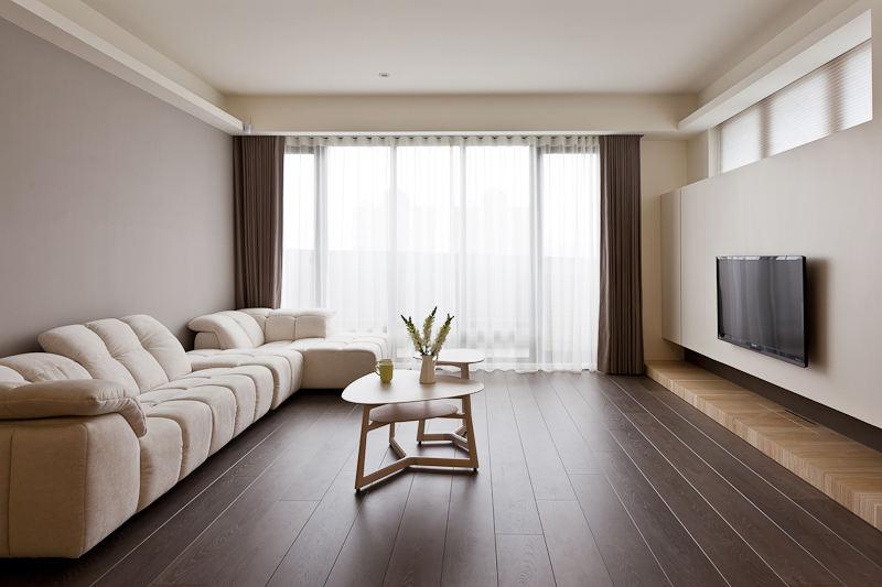 極簡主義客廳裝修樣板間欣賞