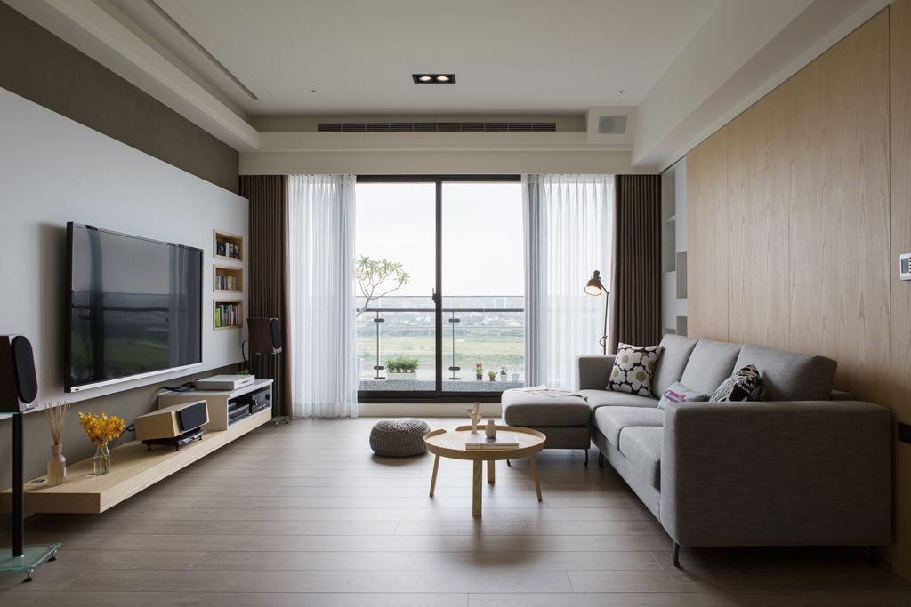簡約現代兩室兩廳裝潢欣賞圖