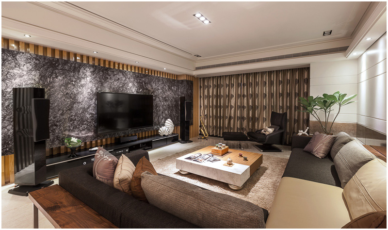 现代质感装修 四室两厅家居欣赏