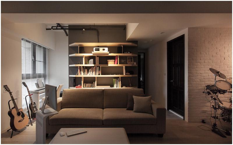 裝修百科 裝修效果圖 裝修美圖 簡約現代書房墻面書架設計 簡約現代