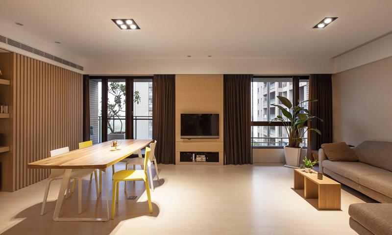 清新原木時尚現代簡約設計二居家裝案例圖