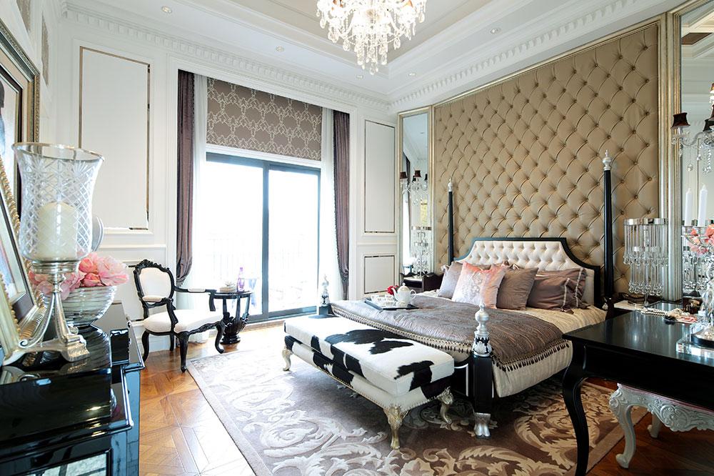 装修百科 装修效果图 装修美图 古典欧式风格卧室落地窗设计 古典欧式