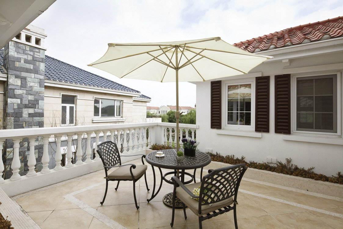 时尚休闲美式风格 别墅露天阳台设计