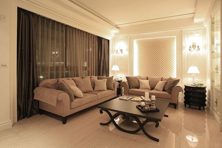 时尚现代设计客厅灯光效果图图片