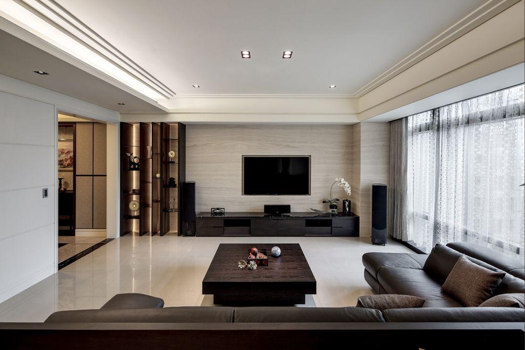 雅致现代简约设计公寓客厅装修图片_装修百科