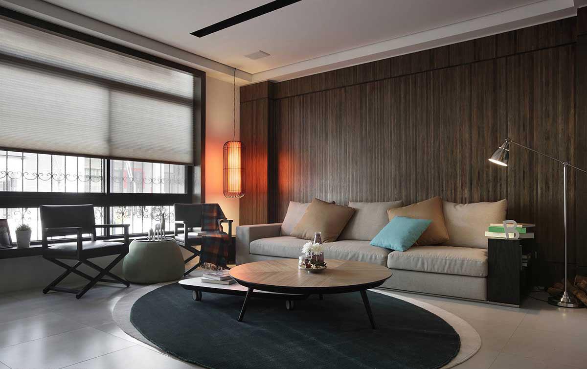 沉稳现代别墅室内装潢案例
