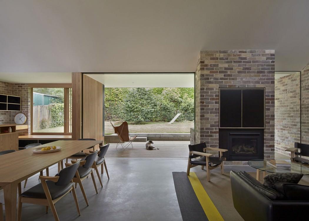 简约北欧 别墅室内壁炉背景墙设计