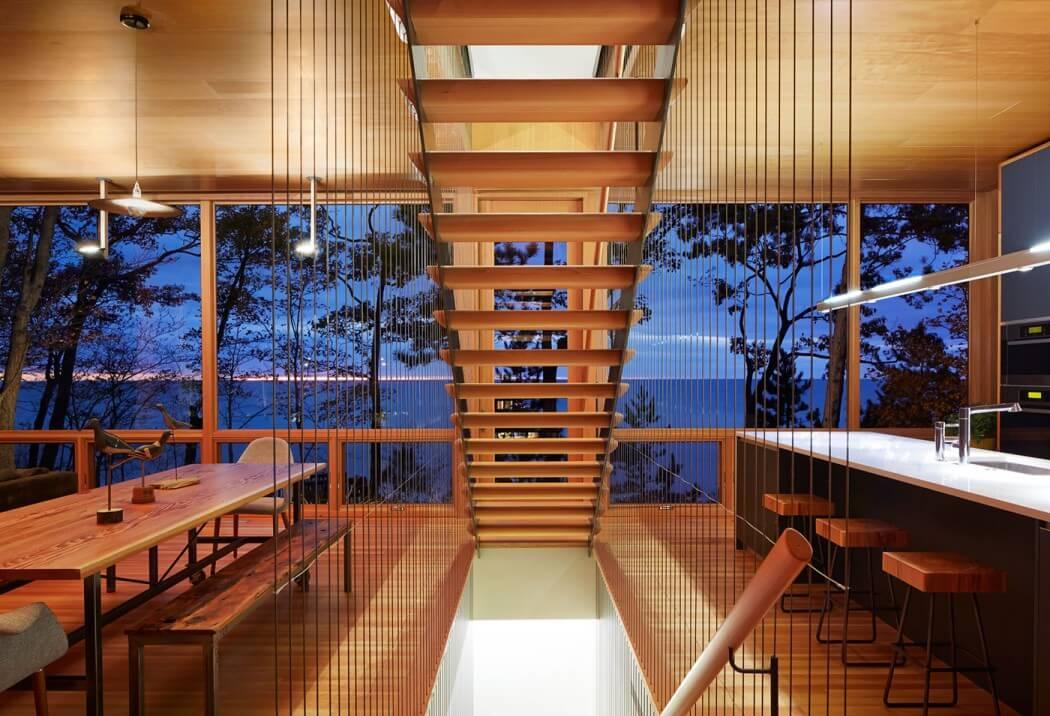 休閑美式樓梯設計裝修