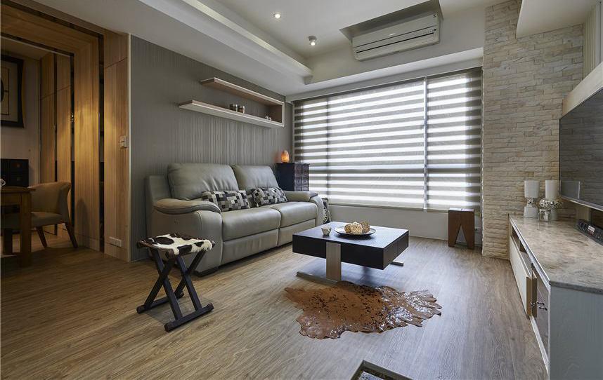 日式现代设计两居装修案例