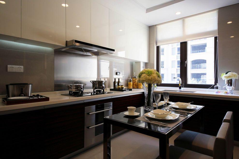 裝修效果圖 裝修美圖 沉穩豪華現代廚房窗戶設計