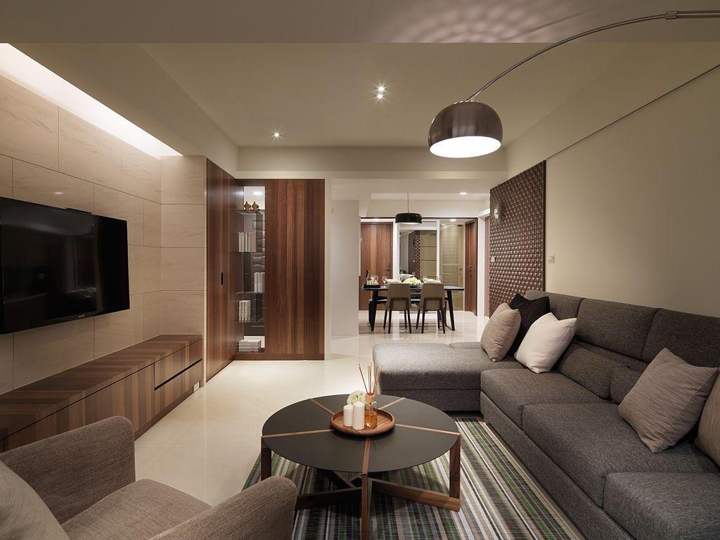 現代風格客廳家居裝飾圖