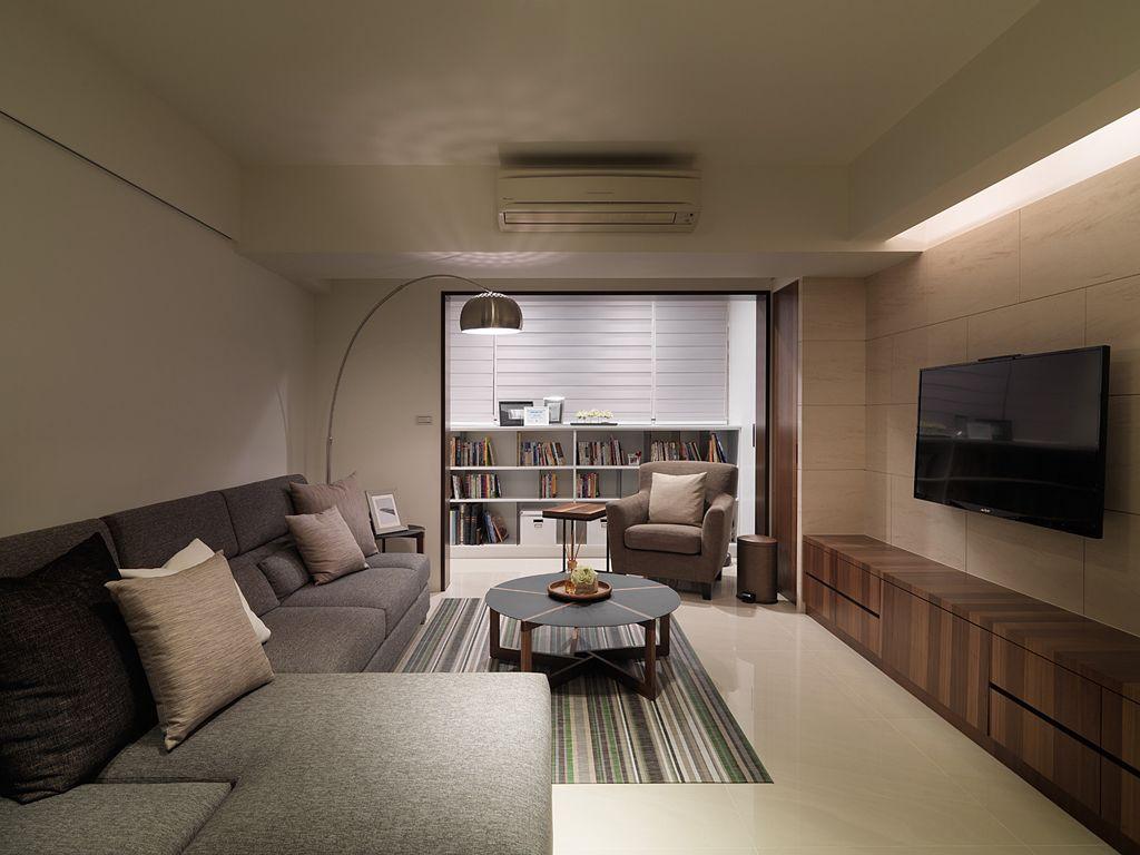 時尚現代裝修客廳效果圖