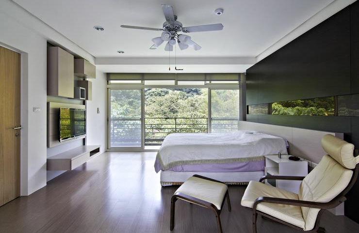 现代日式风卧室装修效果图