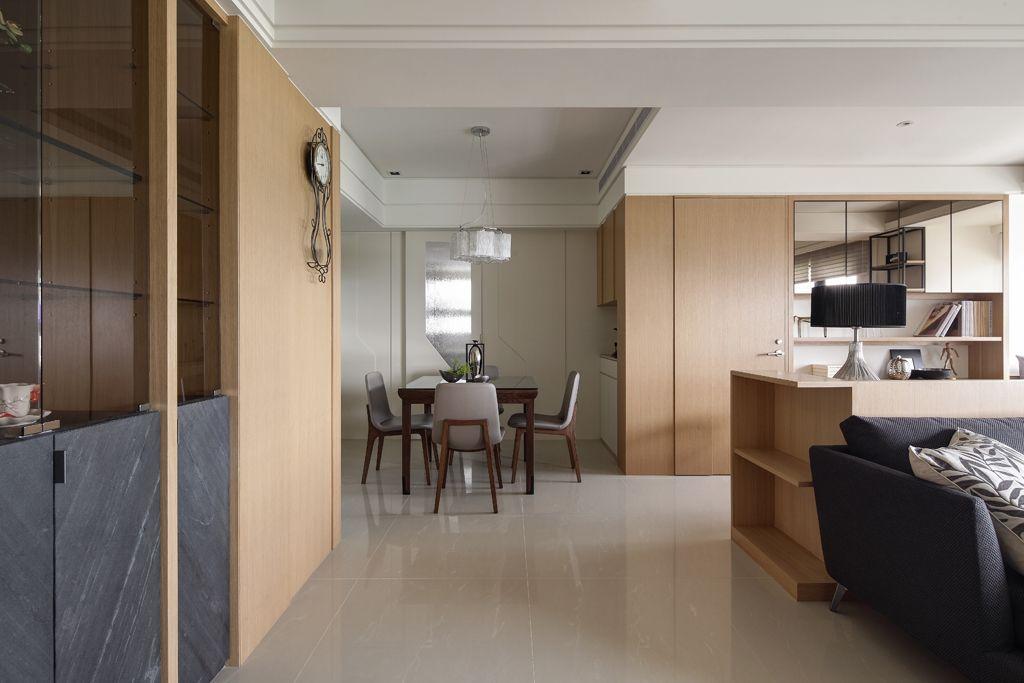 现代日式风公寓餐厅布置