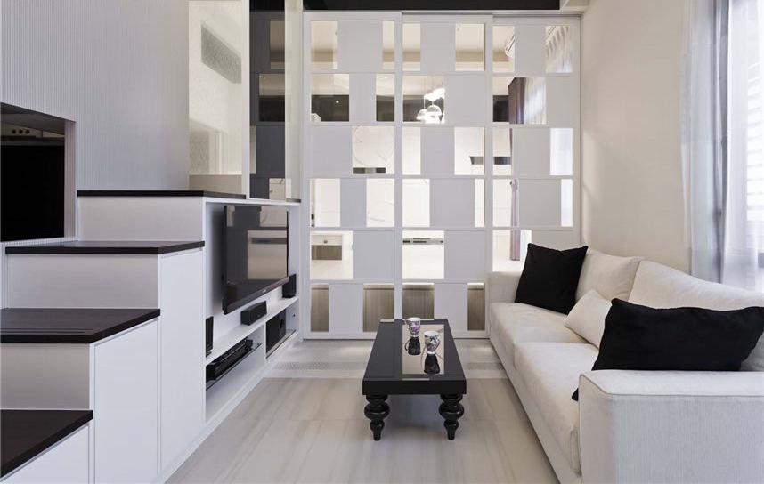 时尚黑白创意空间 极简小户型设计