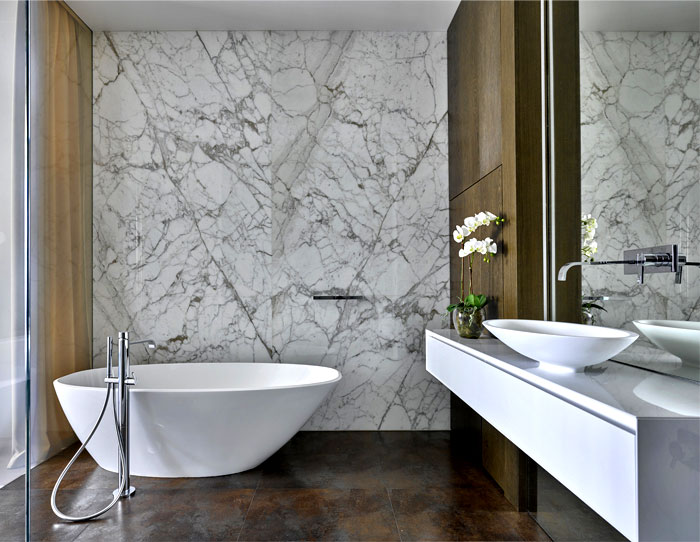 簡約現代浴室浴缸效果圖