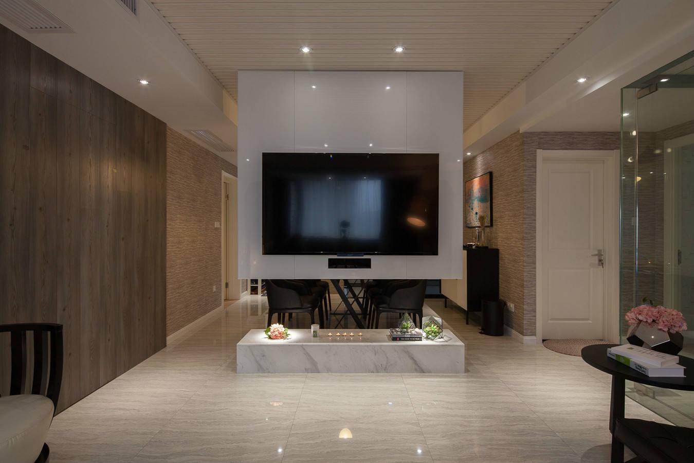 装修效果图 装修美图 美式现代装修 家居电视隔断墙设计